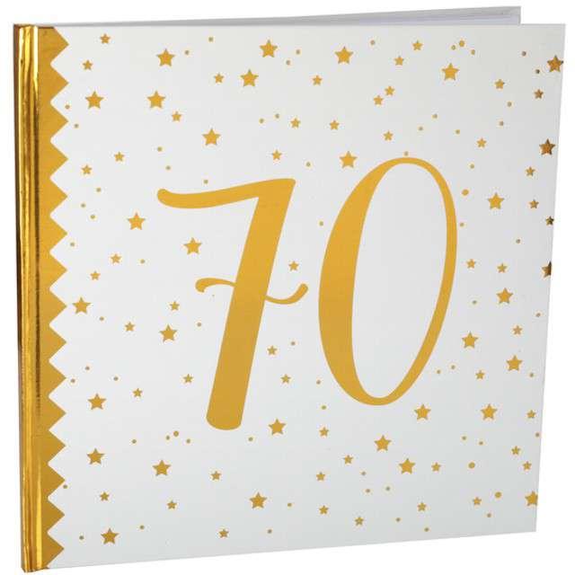 """Księga Gości """"70 Urodziny"""", SANTEX, 24 x 24 cm, 20 kartek"""