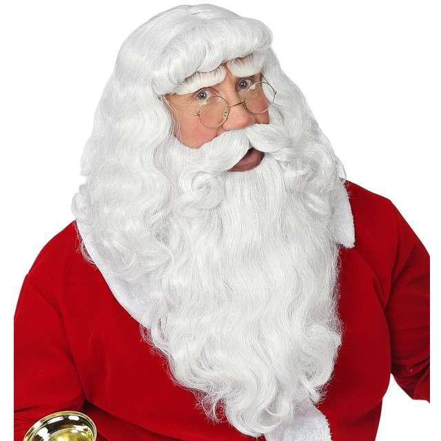 """Peruka party """"Mikołaj z brodą i wąsami"""""""