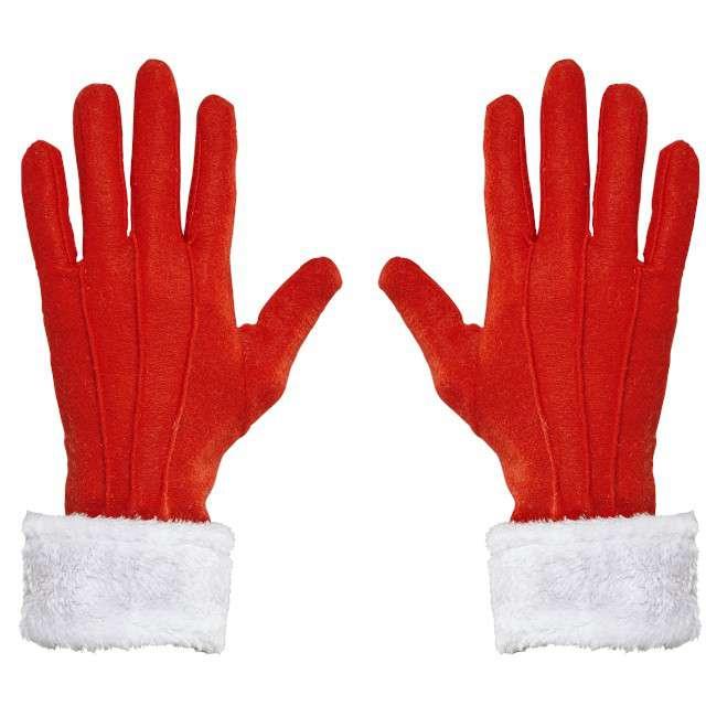 """Rękawiczki """"Pani Mikołajowa"""", czerwone, Widmann"""