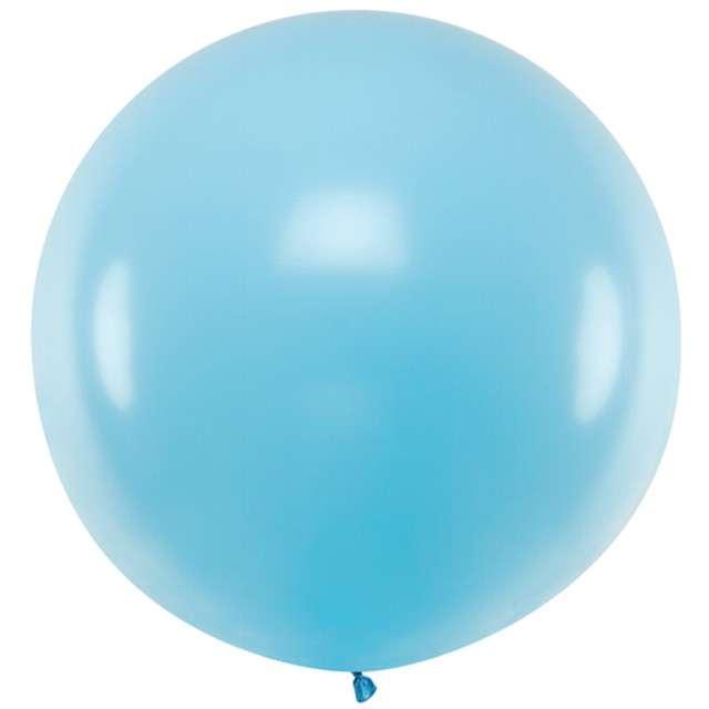 """Balon """"Pastel"""", jasny niebieski, 100cm, PartyDeco, RND"""