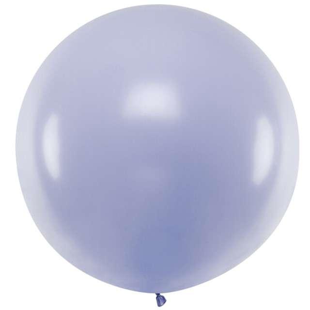"Balon ""Pastel"", liliowy jasny, 100cm, PartyDeco, RND"