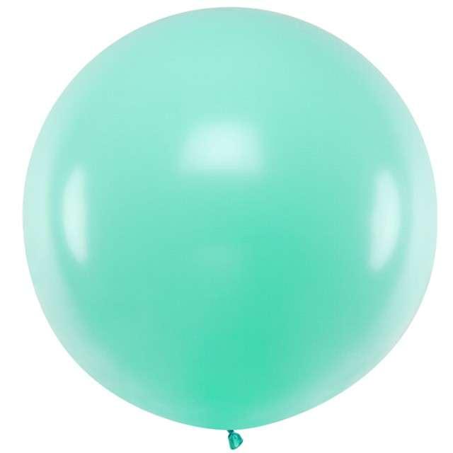 """Balon """"Pastel"""", miętowy, 100cm, PartyDeco, RND"""
