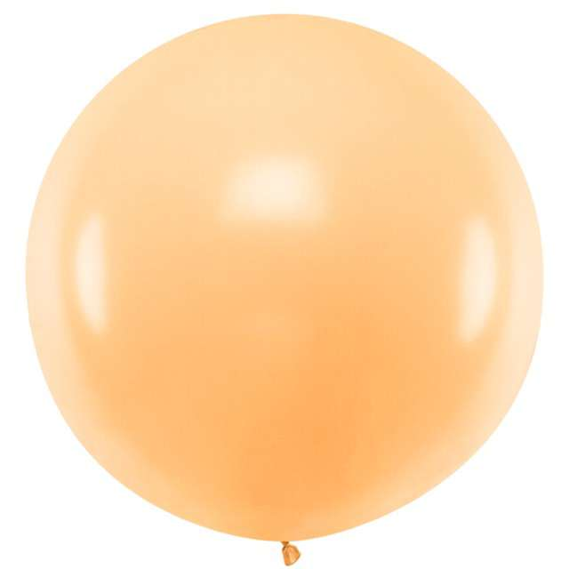 """Balon """"Pastel"""", brzoskwiniowy, 100cm, PartyDeco, RND"""