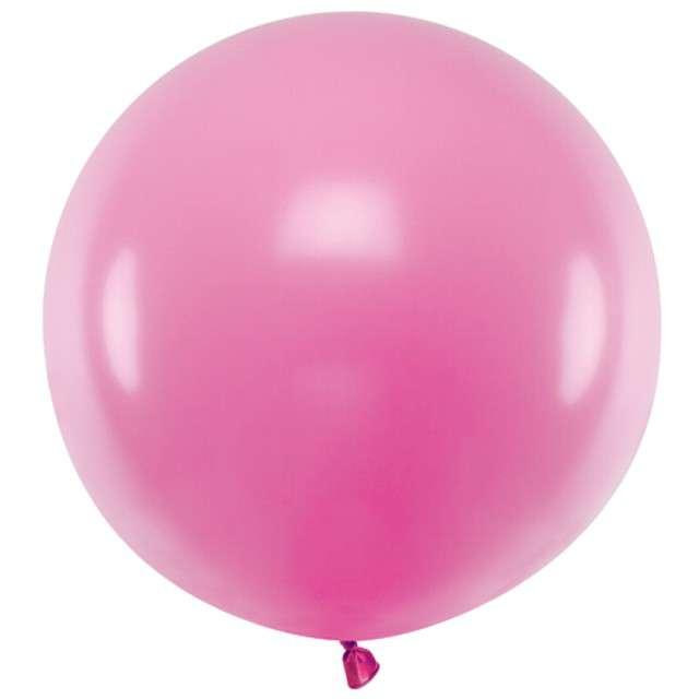 "Balon ""Pastel"", fuksja, 60cm, PartyDeco, RND"