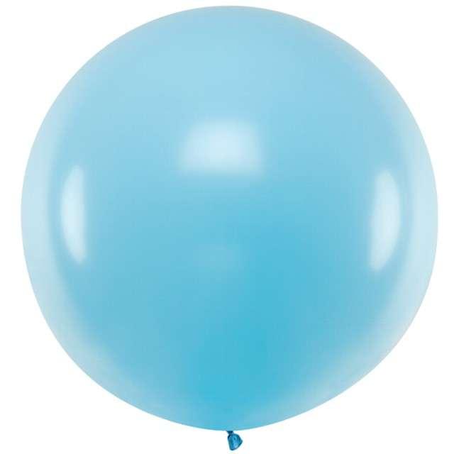 """Balon """"Pastel"""", niebieski jasny, 60cm, PartyDeco, RND"""