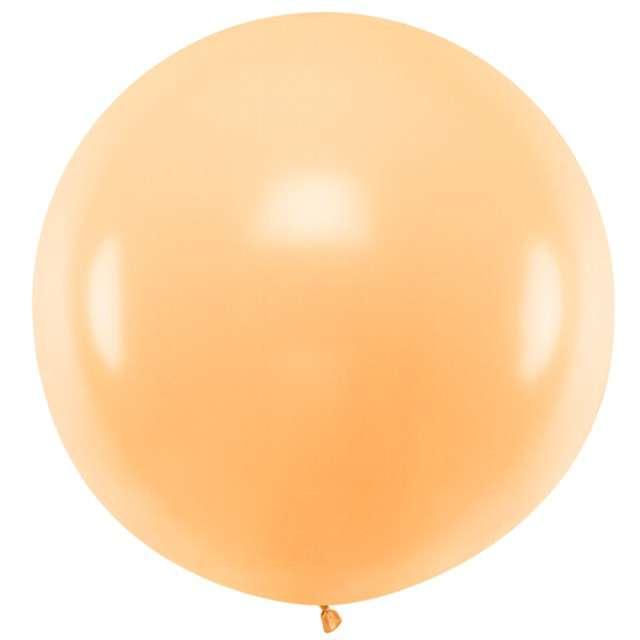 """Balon """"Pastel"""", brzoskwiniowy, 60cm, PartyDeco, RND"""