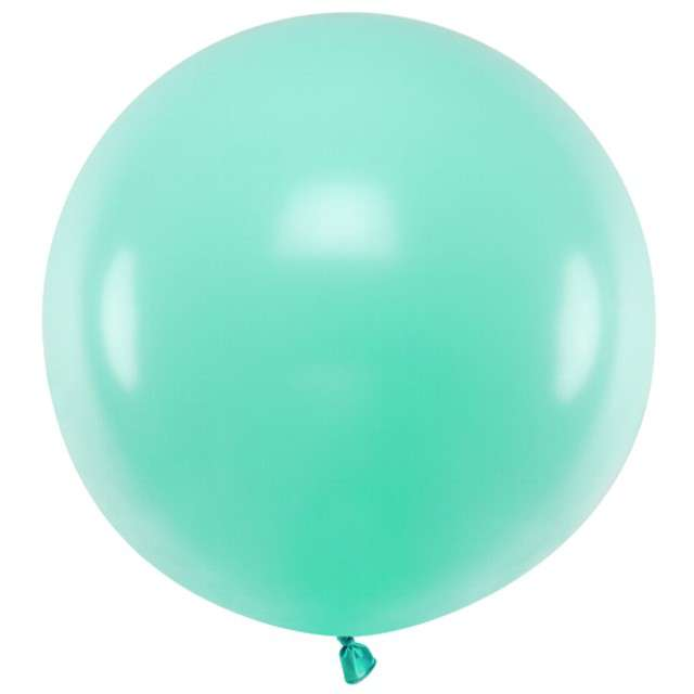 "Balon ""Pastel"", miętowy jasny, 60cm, PartyDeco, RND"