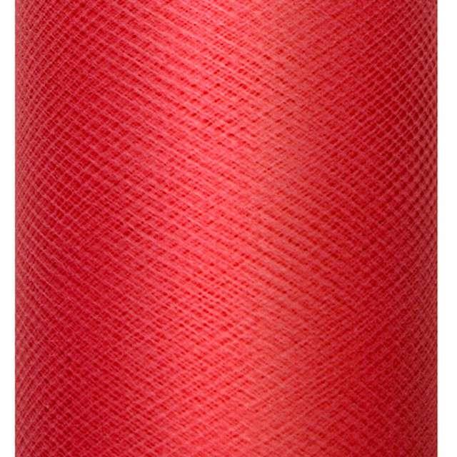 Tiul gładki, czerwony, 0,3 x 50 m, 1 szt