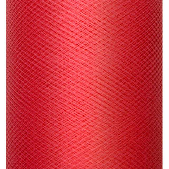 Tiul gładki, czerwony, 0,3 x 50m, 1 szt