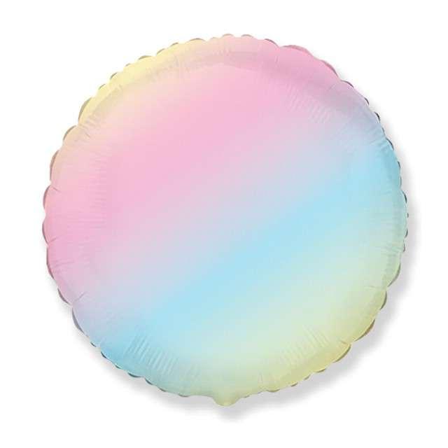 "Balon foliowy ""Satynowy"", kolorowy, Flexmetal, 18"", RND"