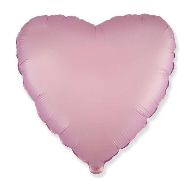 """Balon foliowy """"Serce satynowe"""", liliowy, Flexmetal, 18"""", HRT"""