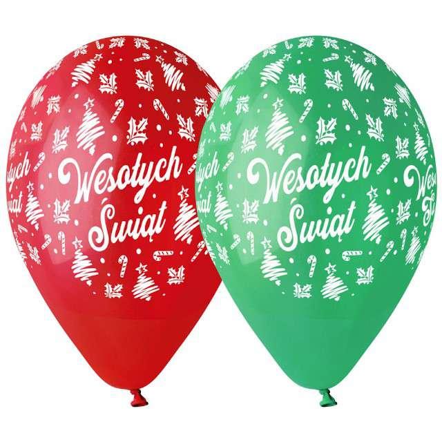 """Balon """"Wesołych Świąt Deluxe"""", mix, 13 cali, Godan"""