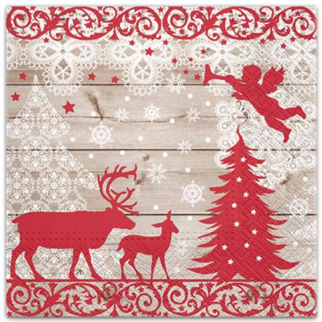 """Serwetki """"Świąteczny las"""", PAW, 33 cm, 20 szt"""