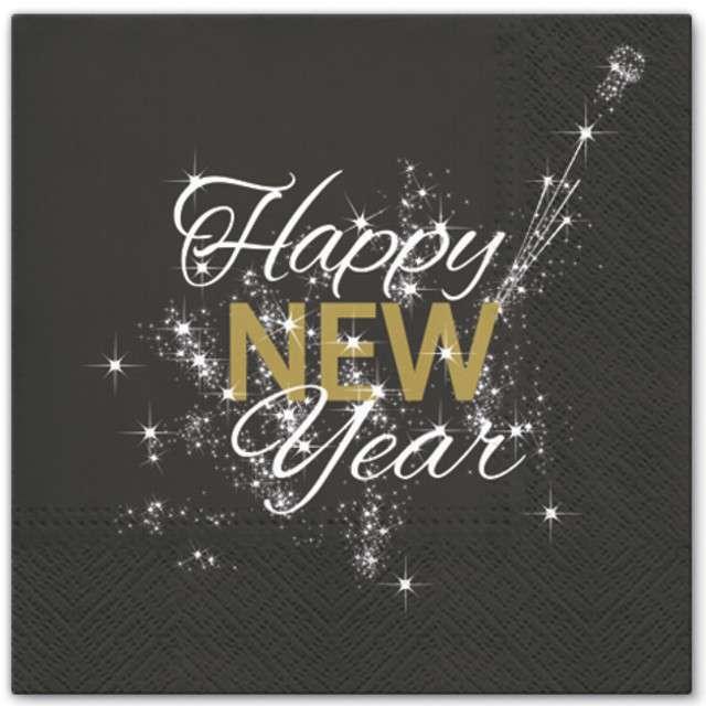"""Serwetki """"Happy New Year"""", PAW, 33 cm, 20 szt"""