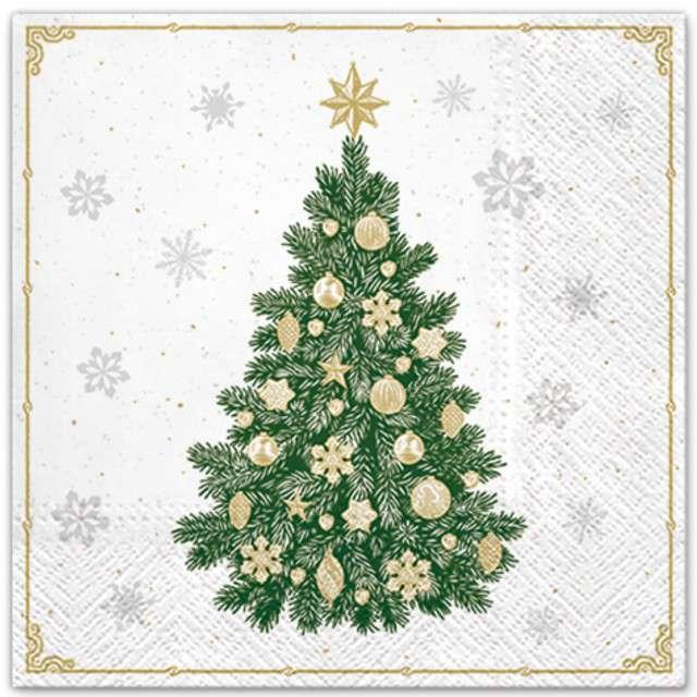 """Serwetki """"Śnieżne drzewko"""", PAW, 33 cm, 20 szt"""