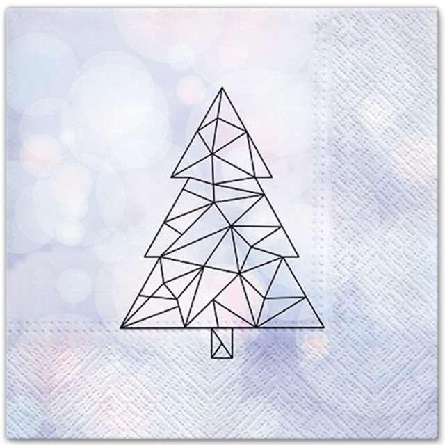 """Serwetki """"Geometryczne drzewo"""", PAW, 33 cm, 20 szt"""