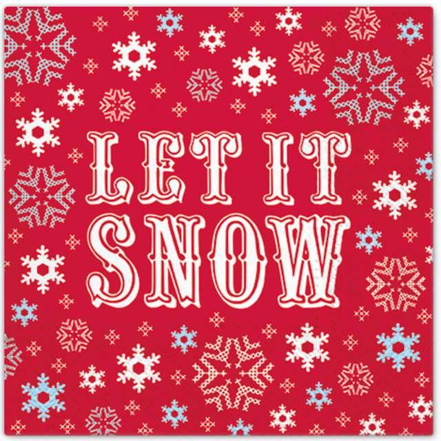 "Serwetki ""Let it snow"", PAW, 33 cm, 20 szt"