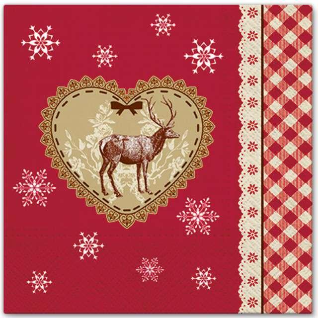 """Serwetki """"Kochać Święta"""", PAW, 33 cm, 20 szt"""