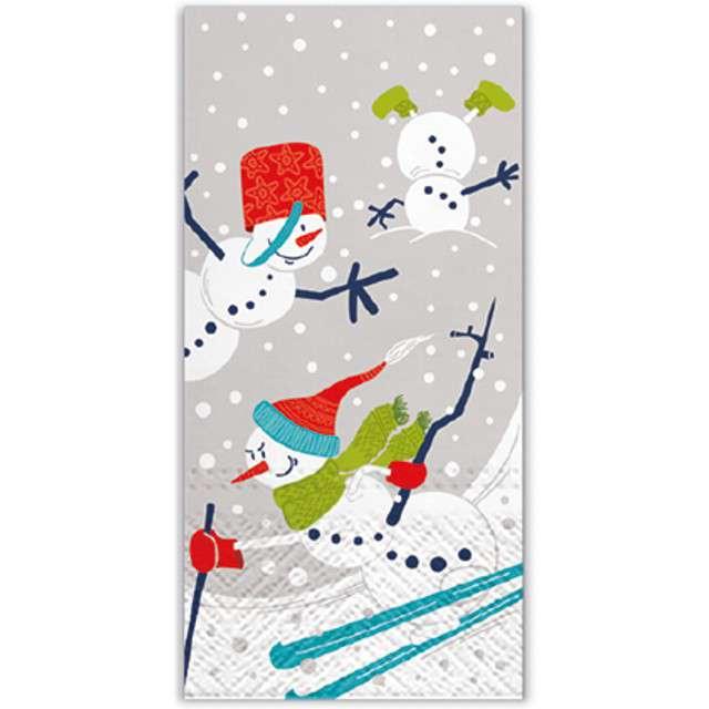 """Chusteczki """"Bałwan na nartach"""", PAW, 22 cm, 10 szt."""