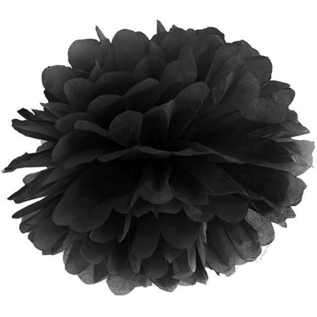 """Pompon bibułowy """"Classic"""", czarny, PartyDeco, 35 cm"""