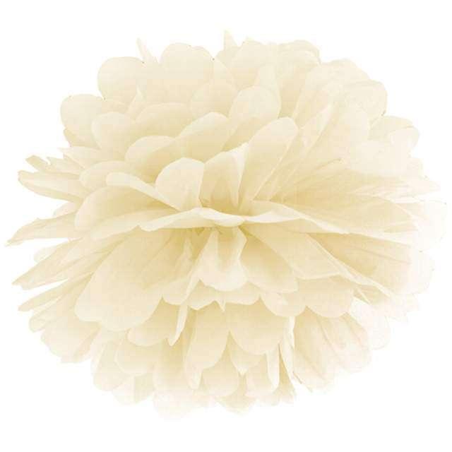 """Pompon bibułowy """"Classic"""", ecru, PartyDeco, 35 cm"""