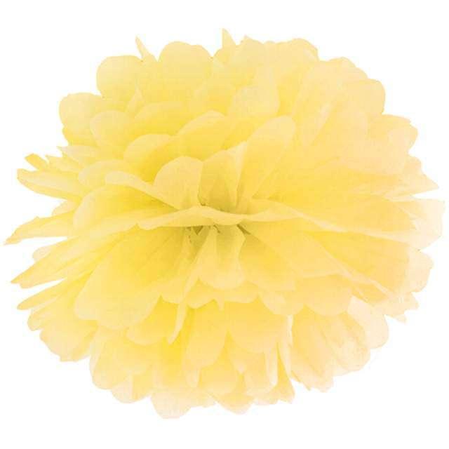 """Pompon bibułowy """"Classic"""", żółty, PartyDeco, 35 cm"""