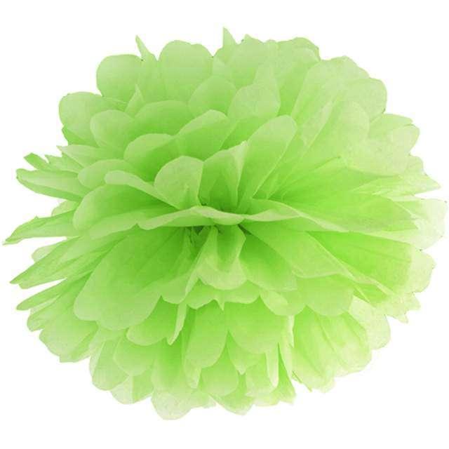 """Pompon bibułowy """"Classic"""", zielone jabłuszko, PartyDeco, 35 cm"""