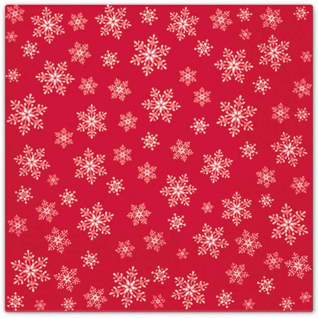 """Serwetki """"Wszędzie gwiazdki"""", czerwone, PAW, 33 cm, 20 szt"""