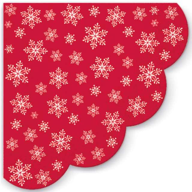 """Serwetki rondo """"Gwiazdy wszędzie"""", czerwone, PAW, 32 cm, 12 szt"""