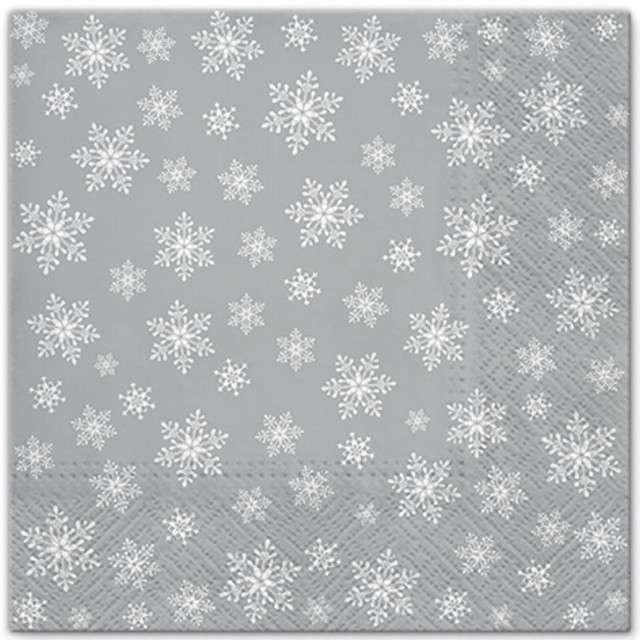 """Serwetki """"Wszędzie gwiazdki"""", srebrne, PAW, 33 cm, 20 szt"""