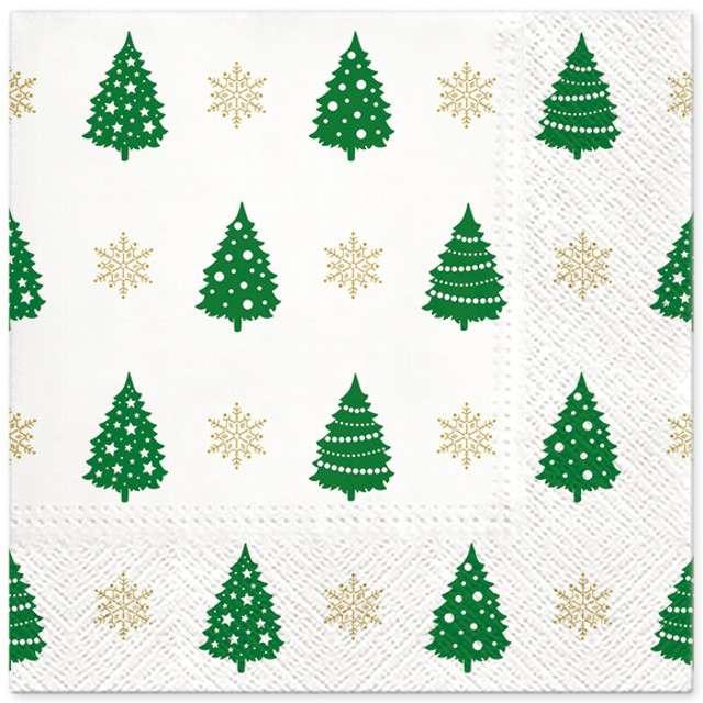 """Serwetki """"Choinkowy wzór"""", zielone, PAW, 33 cm, 20 szt"""