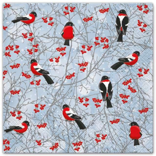 """Serwetki """"Zimowe ptaki"""", PAW, 33 cm, 20 szt"""