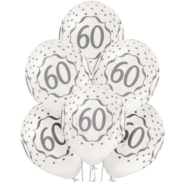 """Balony """"60"""", metalik perłowy, BELBAL,12"""", 6szt"""