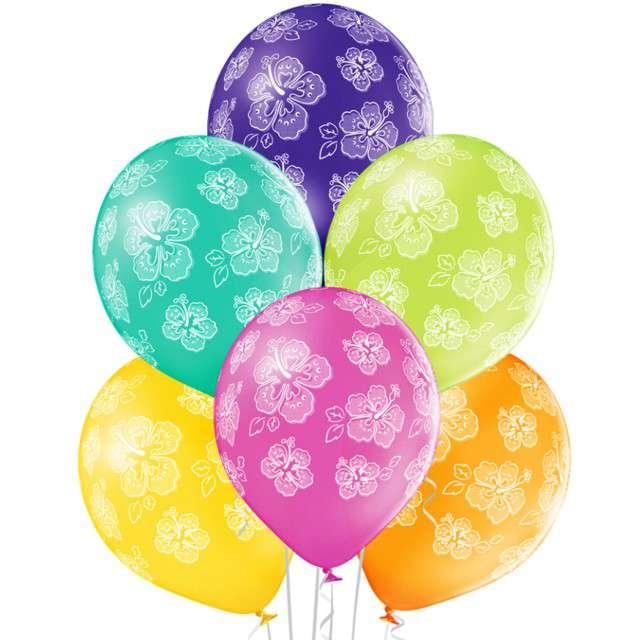 """Balony """"Hibiskus"""", pastel mix, BELBAL, 12"""", 6 szt"""
