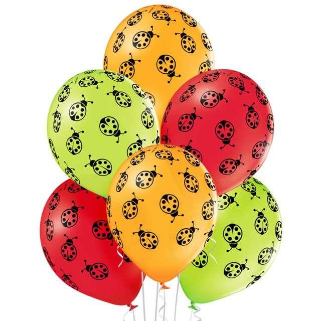"""Balony """"Biedronki"""", pastel mix, BELBAL, 12"""", 6 szt"""