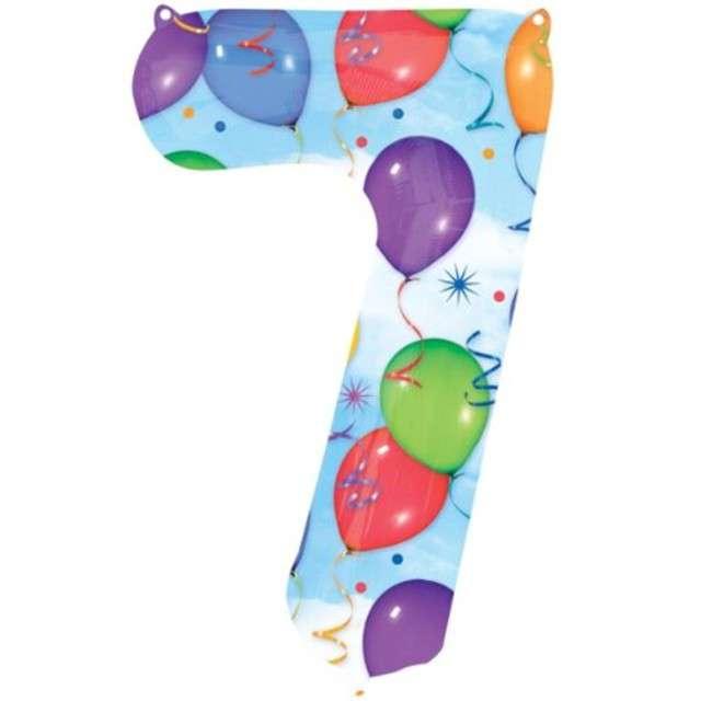 "Balon foliowy cyfra 7, 34"", baloniki"