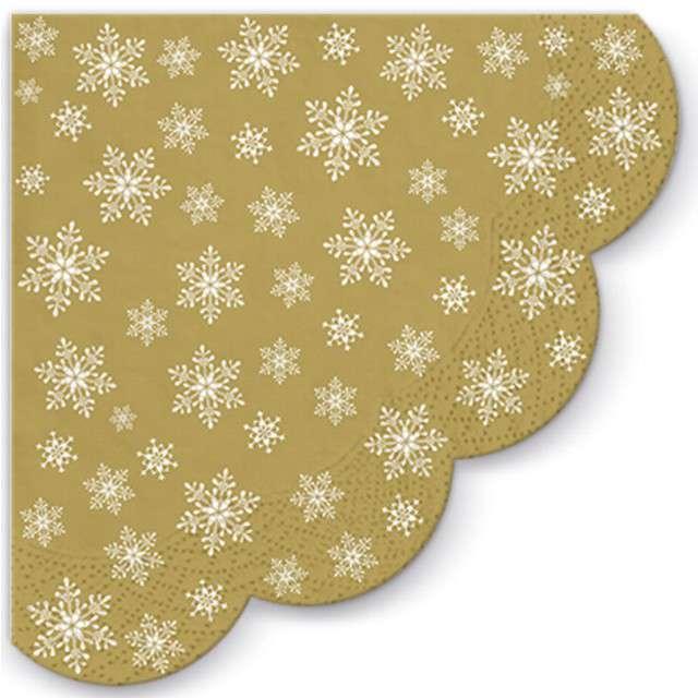 """Serwetki rondo """"Gwiazdy wszędzie"""", złote, PAW, 32 cm, 12 szt"""