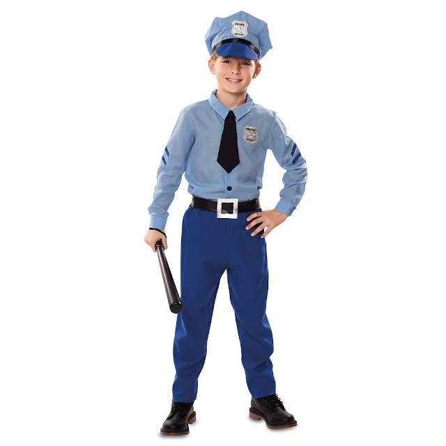 Strój dla dzieci Policjant USA Fyasa 105/121 cm