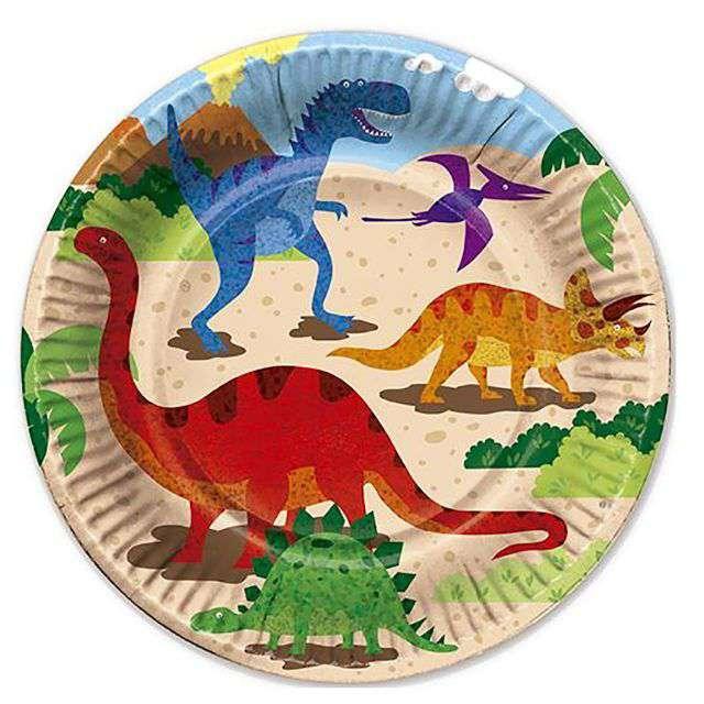 Talerzyki papierowe Dinozaury Fyasa 225 cm