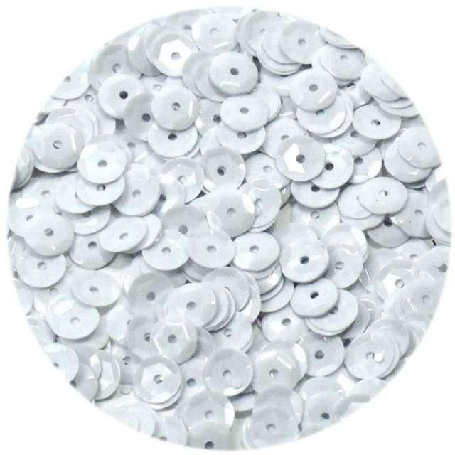 """Cekiny """"Classic Pastel"""", białe, 6 mm, 15 g, DekoracjePolska"""