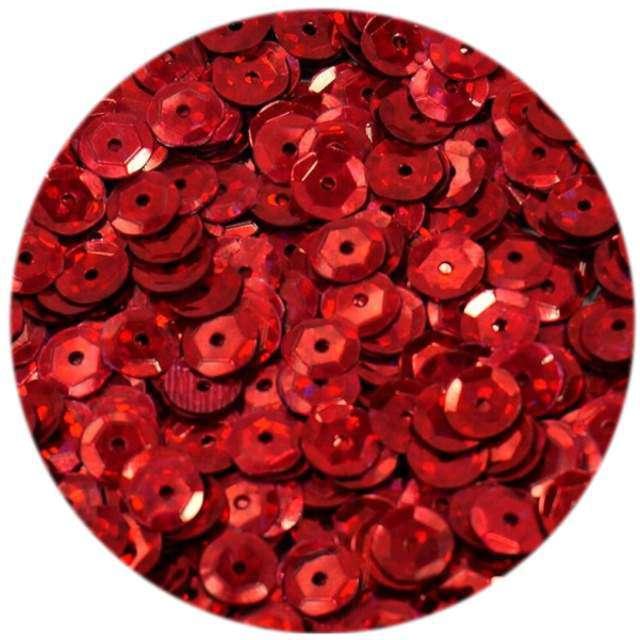 """Cekiny """"Classic Holo"""", czerwone, 6 mm, 15 g, DekoracjePolska"""