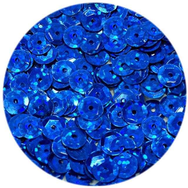 """Cekiny """"Classic Holo"""", niebieskie, 6 mm, 15 g, DekoracjePolska"""