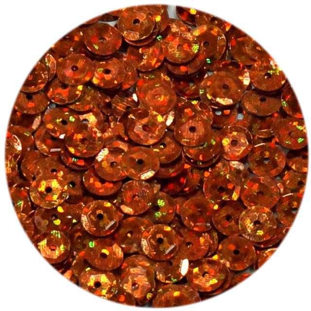 """Cekiny """"Classic Holo"""", pomarańczowe, 6 mm, 15 g, DekoracjePolska"""