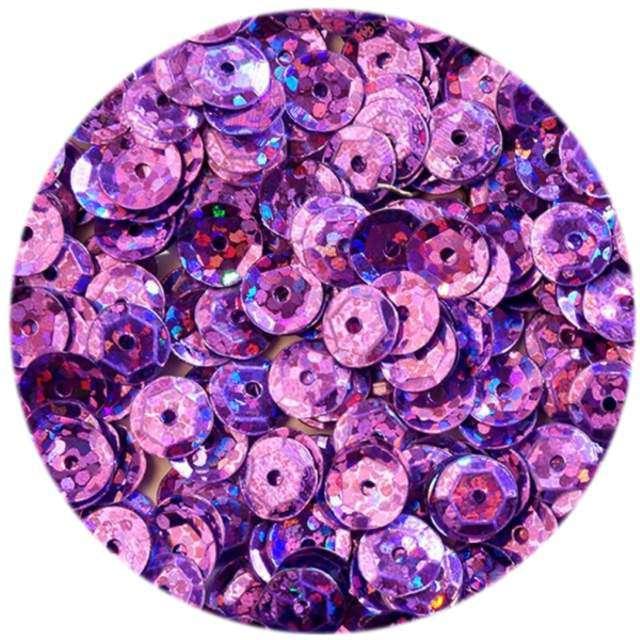 "Cekiny ""Classic Holo"", fioletowe jasne, 6 mm, 15 g, DekoracjePolska"