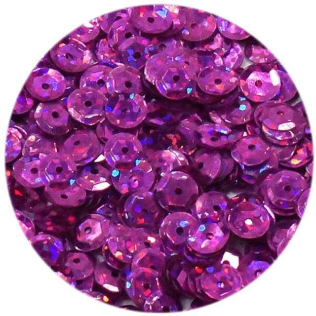 """Cekiny """"Classic Holo"""", różowe, 6 mm, 15 g, DekoracjePolska"""