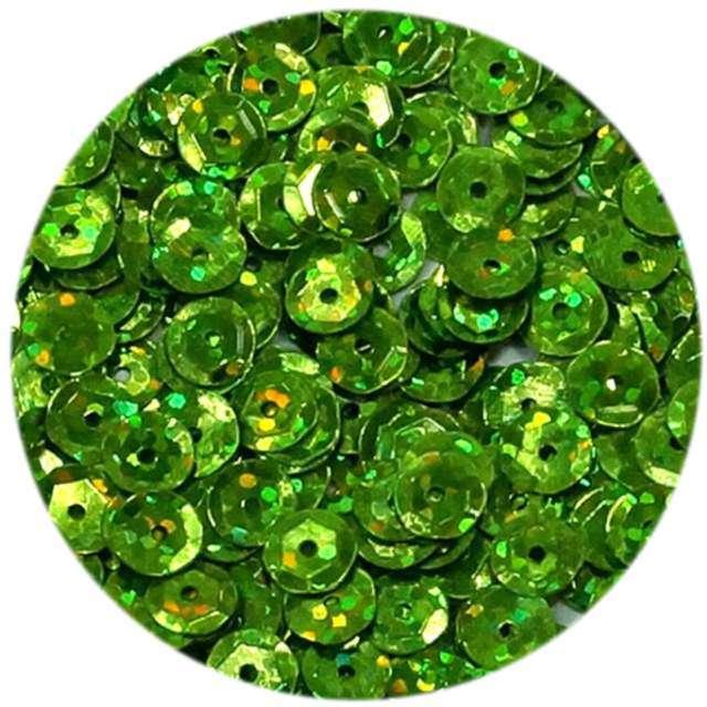 """Cekiny """"Classic Holo"""", zielone oliwkowe, 6 mm, 15 g, DekoracjePolska"""