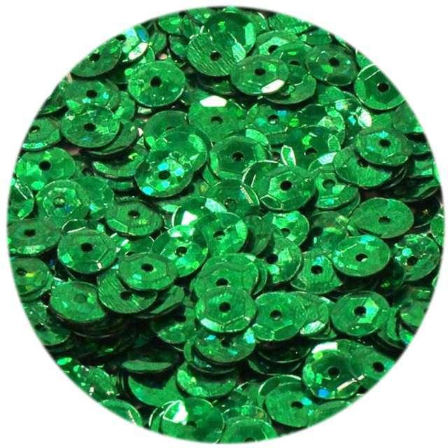 """Cekiny """"Classic Holo"""", zielone, 6 mm, 15 g, DekoracjePolska"""
