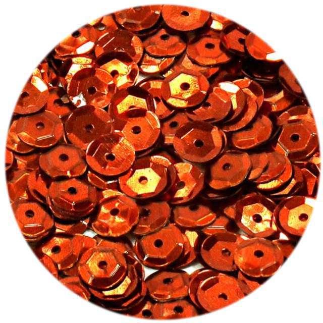 """Cekiny """"Classic Metalic"""", pomarańczowe, 6 mm, 15 g, DekoracjePolska"""