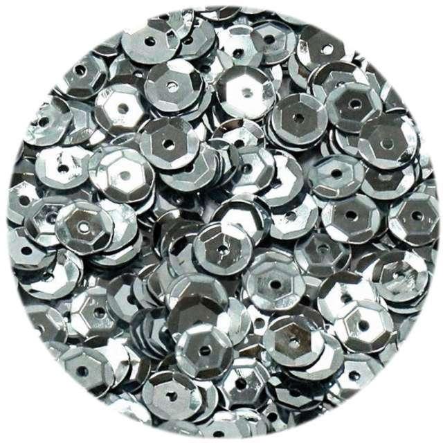 """Cekiny """"Classic Metalic"""", srebrne, 6 mm, 15 g, DekoracjePolska"""