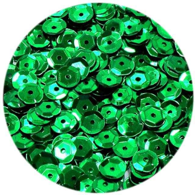 """Cekiny """"Classic Metalic"""", zielone, 6 mm, 15 g, DekoracjePolska"""
